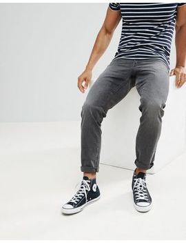 Asos – Schmal Geschnittene Jeans In Verwaschenem Vintage Schwarz by Asos