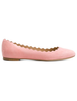 Scalloped Opening Ballerina Flatshome Women Shoes Ballerina Shoes by Chloé