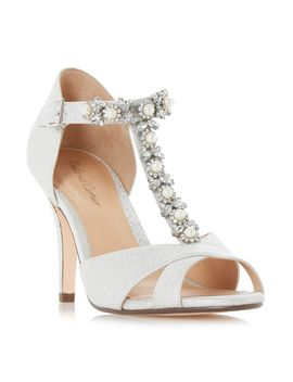 Maddalyn Embellished T Bar Court Shoes by Roland Cartier