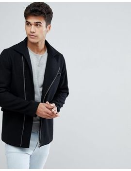 Jack & Jones Premium Wool Mix Coat With Zips by Jack & Jones