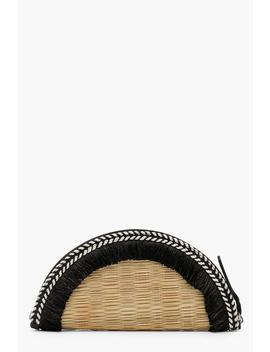 Mia Real Straw Semi Circle Tassel Clutch by Boohoo