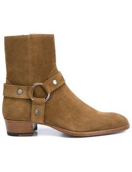 'wyatt 40' Stiefel Mit Bikerschnalle Home Herren Schuhe Stiefel by Saint Laurent
