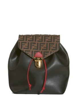 Cruise Bicolor Calfskin Leather Backpack by Fendi