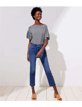 The Crop Jeans In Dark Stonewash by Loft