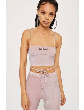 'just A Girl' Embroidered Bralet By New Girl Order by Topshop