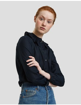 Blouse Josephine In Dark Navy by Need Supply Co.
