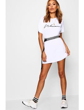 Bella Woman Slogan T Shirt Dress by Boohoo